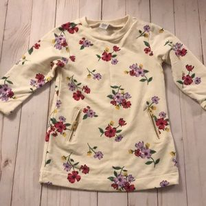 Old navy floral sweater dress 12-18